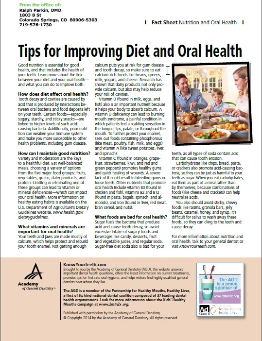 Tips For A Good Diet That Leads To Good Oral Health